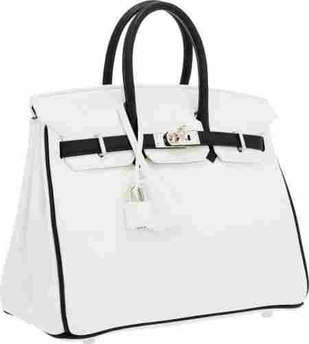 Hermes Special Order Horseshoe 25cm White & Blac