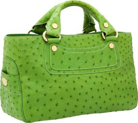 56444: Celine Green Ostrich Boogie Bag
