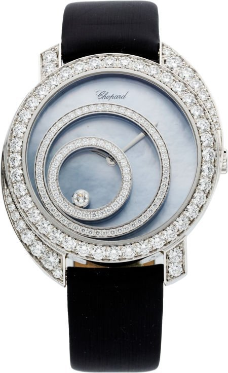 56465: Chopard Diamond & 18k White Gold Happy Spirit Wr