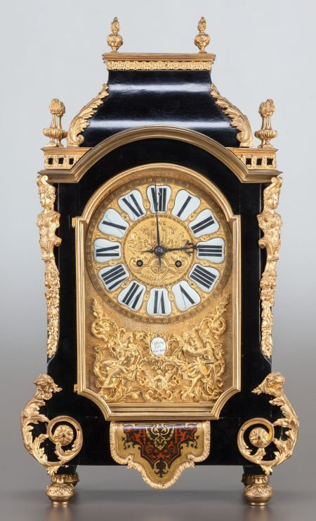 62006: A LOUIS XV-STYLE EBONIZED WOOD AND GILT BRONZE M