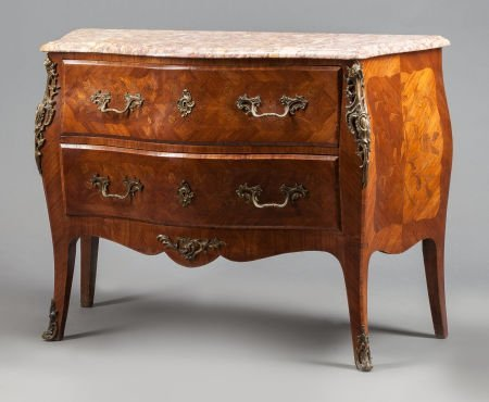 62022: A LOUIS XV-STYLE MAHOGANY AND FRUITWOOD FLORAL I