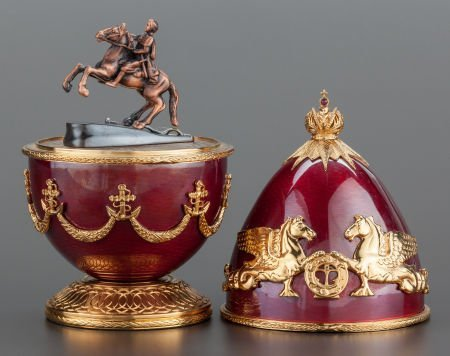 62432: A THEO FABERGÉ GUILLOCHÉ ENAMEL AND SILVER GILT