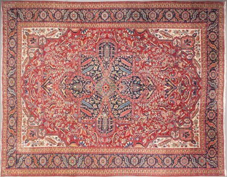 62553: A PERSIAN WOOL KNOTTED CARPET 20th century 15 fe