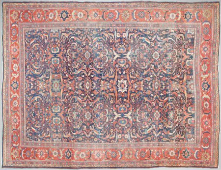 62554: A PERSIAN WOOL KNOTTED CARPET 20th century 14 fe