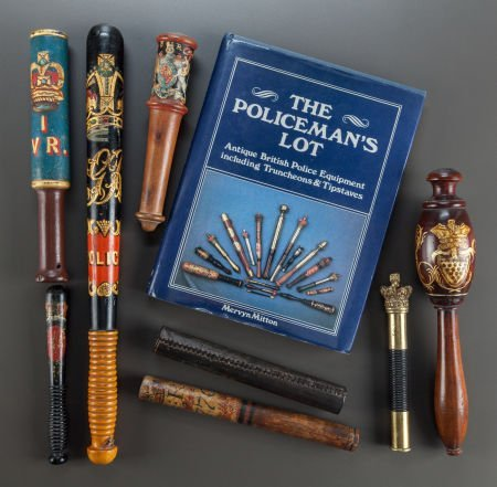 62556: A GROUP OF SEVEN BRITISH POLICE TRUNCHEONS WITH