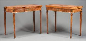 62567 A PAIR OF EDWARDIAN MAHOGANY AND SATINWOOD PAINT