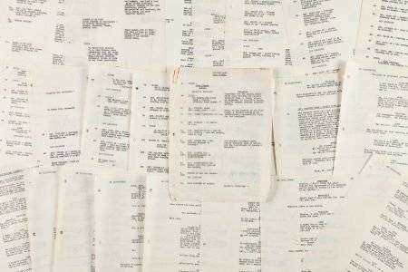 46023: An Orson Welles Group of Working Script Pages fr