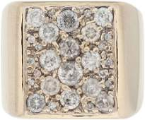 46409 Elvis Presley Owned and Worn Gold Ring with Diam