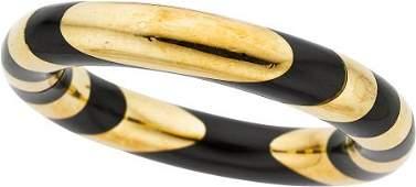 58060: Black Jade, Gold Bracelet, Angela Cummings for T