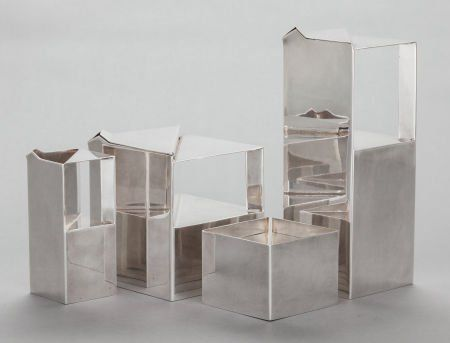 68500: A FOUR PIECE CHRISTOFLE FRENCH SILVER-PLATED ART