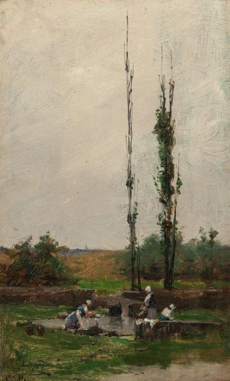 70002: CHARLES ADAMS PLATT (American, 1861-1933) Laundr