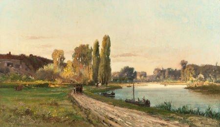 70009: CHARLES EDOUARD DU BOIS (American, 1847-1885) Pa