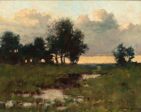 70013: ARTHUR HOEBER (American, 1854-1915) Twilight Oil