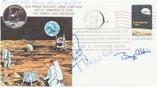 40115: Apollo 11 Flown Crew-Signed Quarantine Cover, C-