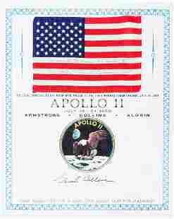 40117: Apollo 11 Flown American Flag with Presentation