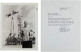 40034: John Glenn Signed Original NASA Photo and Typed