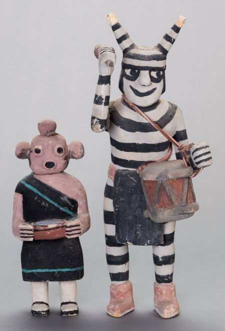 54015: TWO HOPI COTTONWOOD KACHINA DOLLS Jimmy Koots c.