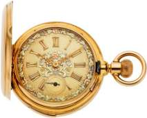 60243 Geneva NM Watch Co Gold Minute Repeater With
