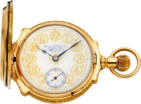 60160: Hamilton Very Rare Fancy Anna Silveira Dial 18 S