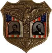 38100: McClellan & Pendleton: Ferrotype Jugate.