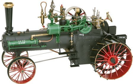 87002: LIVE STEAM SCALE MODEL CASE 25 HP PLOWING TRACTO
