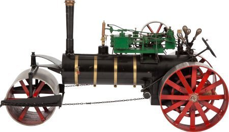 87006: LIVE STEAM MODEL OF A HISTORIC ROAD ROLLER 26 x