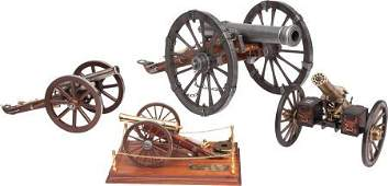 87359 FOUR SCALE MODEL HISTORICAL CANNONS Length of la