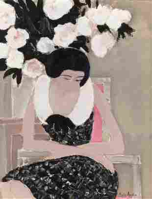72026: ANDRÉ BRASILIER (French, b. 1929) Fleurs et femm