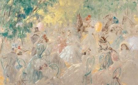 86067: LOUIS ICART (French, 1888-1950) Au Pesage, circa