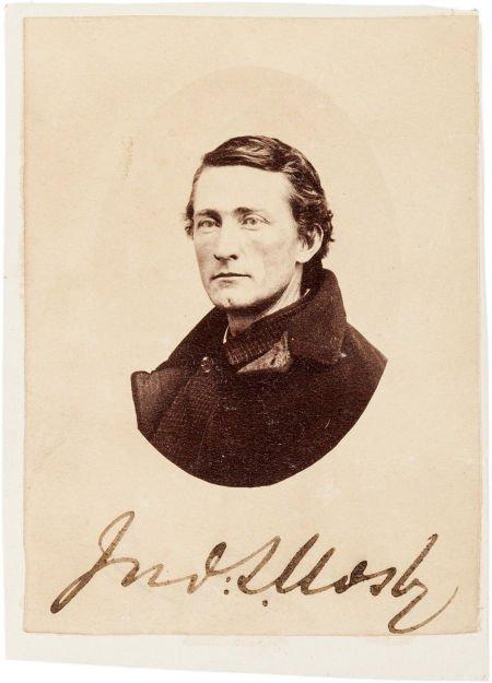 49024: John Singleton Mosby Carte de Visite Signed