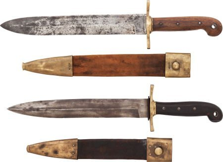 49535: Lot of Two Ames 1849 Rifleman's Knives and Scabb - 2