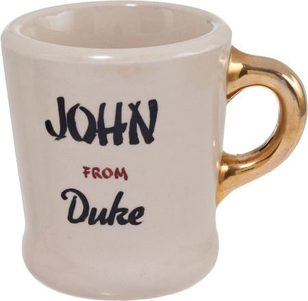 "89034: A John Wayne-Gifted Coffee Mug from ""Blood Alley - 2"