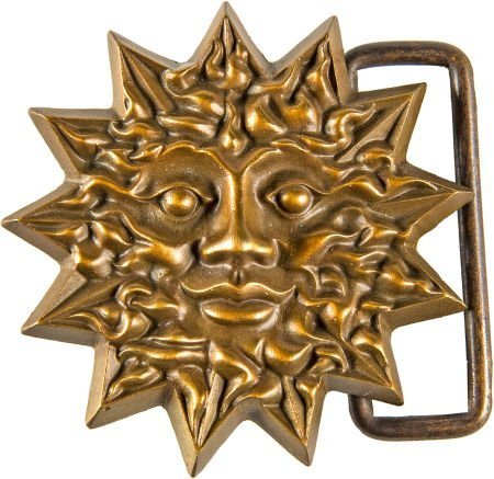 "89372: Grateful Dead ""Sun Face"" Belt Buckle by Owsley """