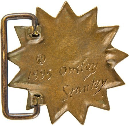 "89372: Grateful Dead ""Sun Face"" Belt Buckle by Owsley "" - 2"