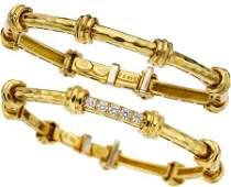 54194 Henry Dunay Diamond Gold Bracelets