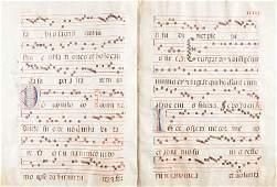 45116 Antiphonal Manuscript in Latin Np Spain