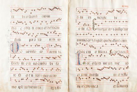 45116: Antiphonal. Manuscript in Latin. [N.p. (Spain?):
