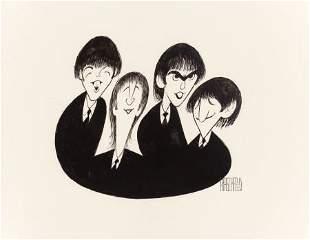 71149: AL HIRSCHFELD (American, 1903-2003) The Beatles