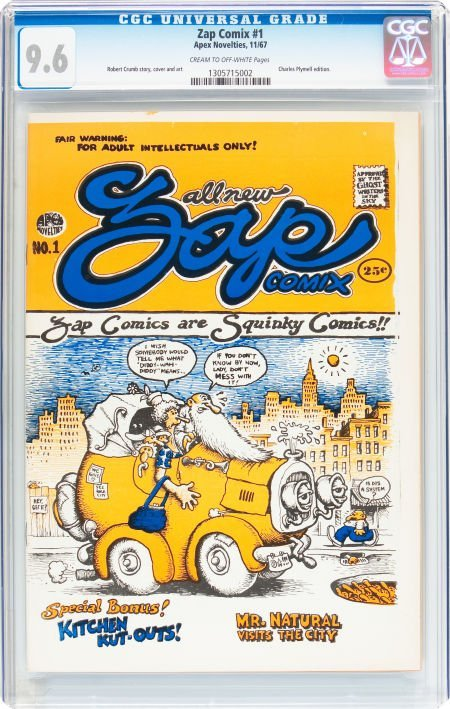 91367: Zap Comix #1 First Printing - Plymell Edition (A