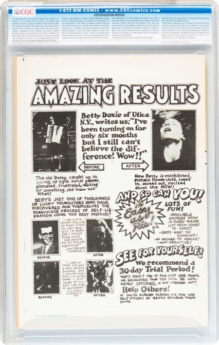 91367: Zap Comix #1 First Printing - Plymell Edition (A - 2