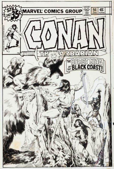 92007: John Buscema Conan the Barbarian #94 Cover Origi