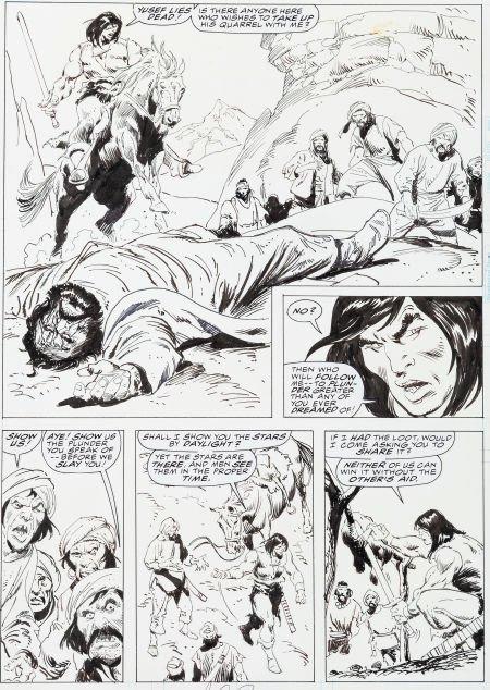 """92008: John Buscema Savage Sword of Conan #234 """"The Dau"""