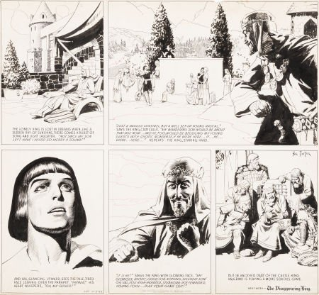 92009: Hal Foster Prince Valiant Partial Sunday Comic S