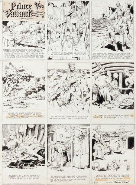 92010: Hal Foster Prince Valiant Sunday Comic Strip #52