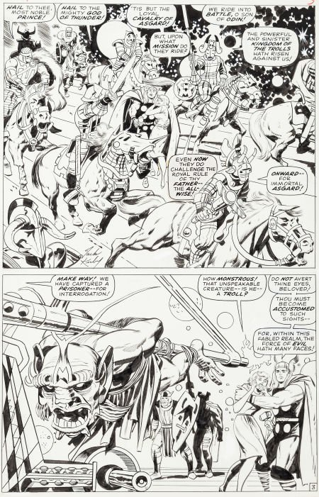 """92015: Jack Kirby and Vince Colletta Thor #136 """"To Beco"""