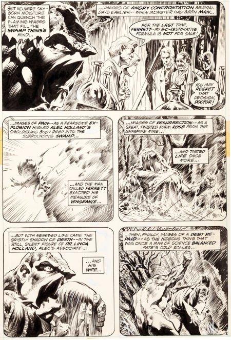 "92019: Bernie Wrightson Swamp Thing #2 ""The Man Who Wan"