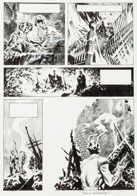 "92022: Bernie Wrightson Creepy #62 ""The Black Cat"" Page"