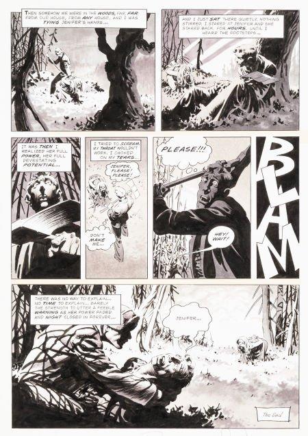 "92023: Bernie Wrightson Creepy #63 ""Jenifer"" Page 16 Or"