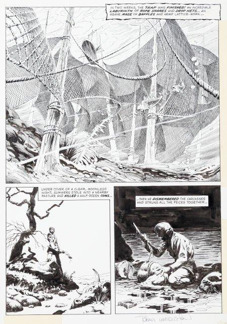 """92024: Bernie Wrightson Eerie #58 """"Pepper Lake Monster"""""""