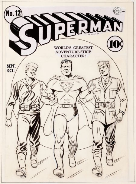 92365: Fred Ray Superman #12 Cover Original Art (DC, 19